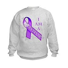 I Am a Survivor (purple).png Sweatshirt