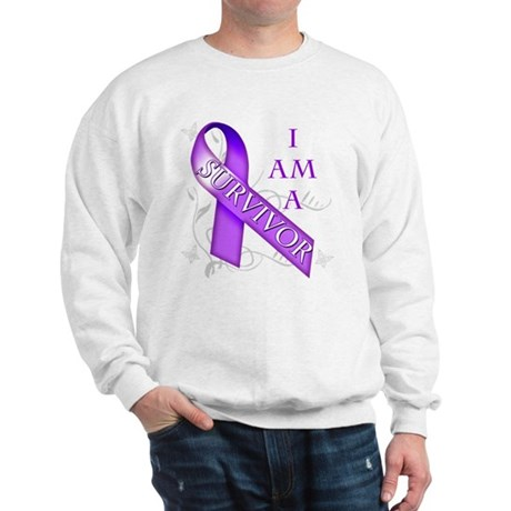 I Am a Survivor (purple).png Sweatshirt