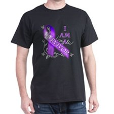 I Am a Survivor (purple).png T-Shirt