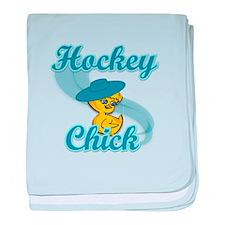 Hockey Chick #3 baby blanket
