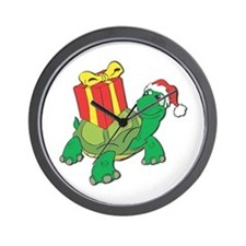 Christmas Turtle Wall Clock