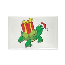 Christmas Turtle Rectangle Magnet