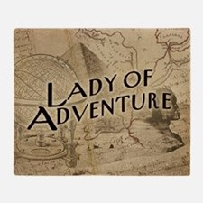Lady Of Adventure Throw Blanket