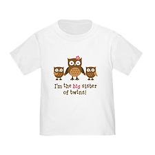 Big Sister of Twins - Mod Owl T-Shirt