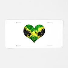 Jamaican heart Aluminum License Plate