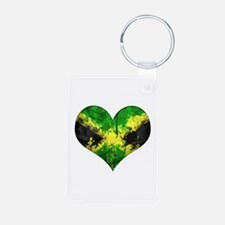 Jamaican heart Keychains