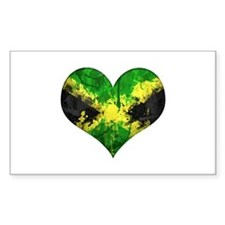 Jamaican heart Decal