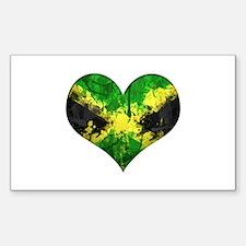 Jamaican heart Decal