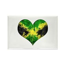 Jamaican heart Rectangle Magnet