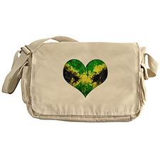 Jamaican heart Messenger Bag