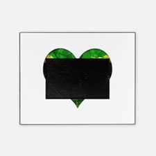 Jamaican heart Picture Frame