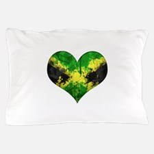 Jamaican heart Pillow Case