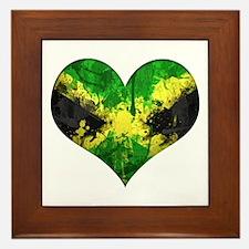 Jamaican heart Framed Tile