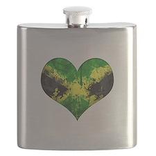 Jamaican heart Flask