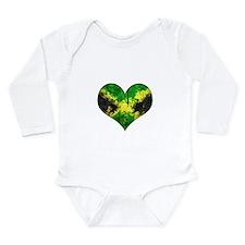 Jamaican heart Long Sleeve Infant Bodysuit