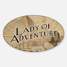 Lady Of Adventure Sticker (Oval)