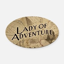 Lady Of Adventure Oval Car Magnet
