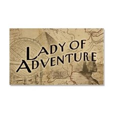 Lady Of Adventure Car Magnet 20 x 12