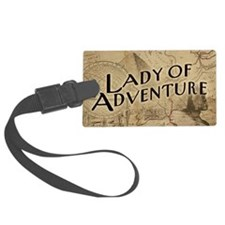 Lady Of Adventure Luggage Tag