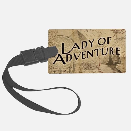 Lady Of Adventure Luggage Tag