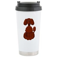 Brown Poodle Travel Mug