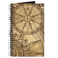 Vintage Compass Rose Collage Journal