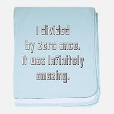 Divide by Zero baby blanket