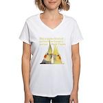 Cockatiel 2 Steve Duncan Women's V-Neck T-Shirt
