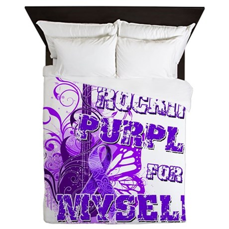 Im Rockin Purple for Myself.png Queen Duvet