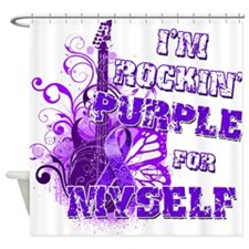Im Rockin Purple for Myself.png Shower Curtain