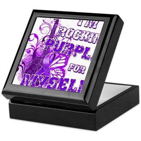 Im Rockin Purple for Myself.png Keepsake Box