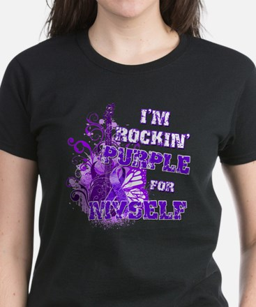 Im Rockin Purple for Myself.png Women's Dark T-Shi