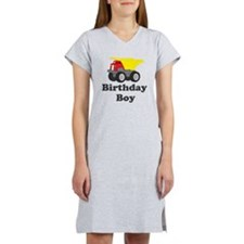 Dump Truck Birthday Boy Women's Nightshirt