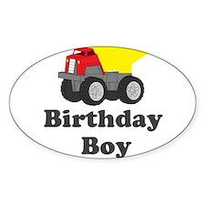 Dump Truck Birthday Boy Decal