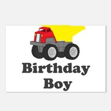 Dump Truck Birthday Boy Postcards (Package of 8)