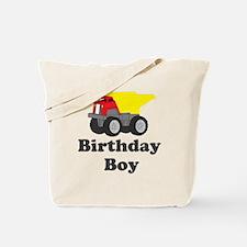 Dump Truck Birthday Boy Tote Bag