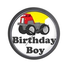 Dump Truck Birthday Boy Wall Clock