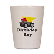Dump Truck Birthday Boy Shot Glass