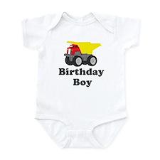 Dump Truck Birthday Boy Infant Bodysuit