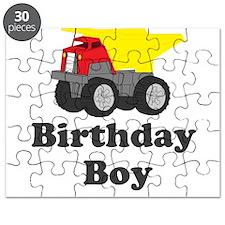 Dump Truck Birthday Boy Puzzle