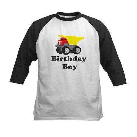 Dump Truck Birthday Boy Kids Baseball Jersey