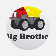 Big Brother Dump Truck Ornament (Round)