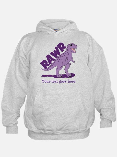 Personalized Purple Dinosaur RAWR Hoodie