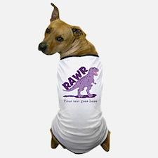 Personalized Purple Dinosaur RAWR Dog T-Shirt