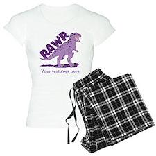 Personalized Purple Dinosaur RAWR pajamas