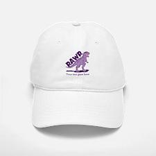 Personalized Purple Dinosaur RAWR Baseball Baseball Cap