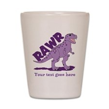 Personalized Purple Dinosaur RAWR Shot Glass
