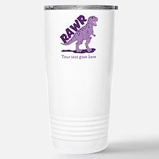Personalized Purple Dinosaur RAWR Stainless Steel