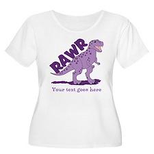 Personalized Purple Dinosaur RAWR T-Shirt
