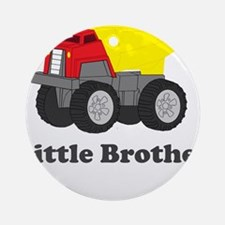 Little Brother Dump Truck Ornament (Round)
